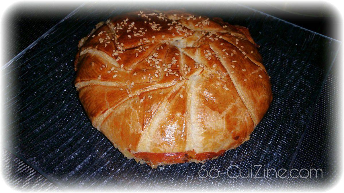 Feuilleté au camembert et lardons