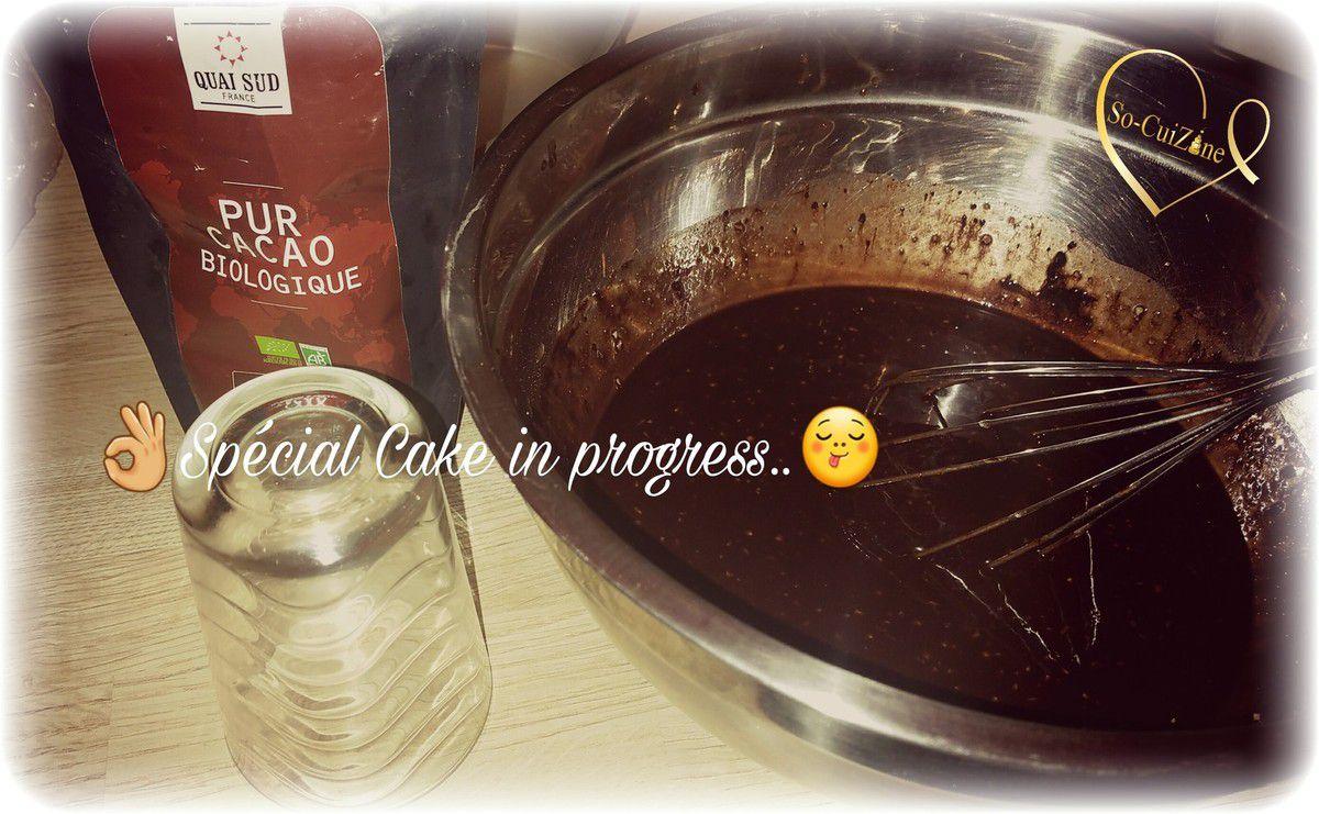 Moelleux au chocolat à l'eau, oui oui à l'eau..