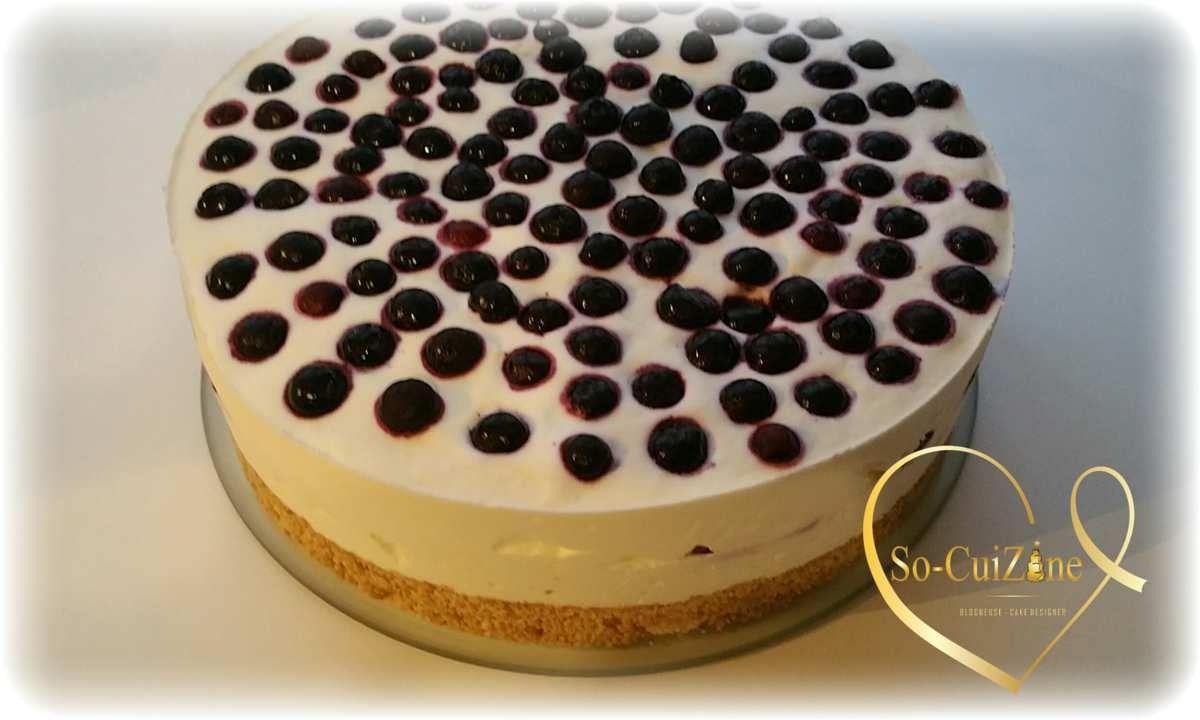 Cheesecake Pêche-Myrtille avec Léonce Blanc