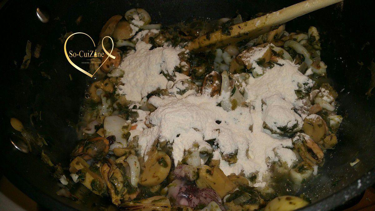 Cassolette feuilleté de fruits de mer