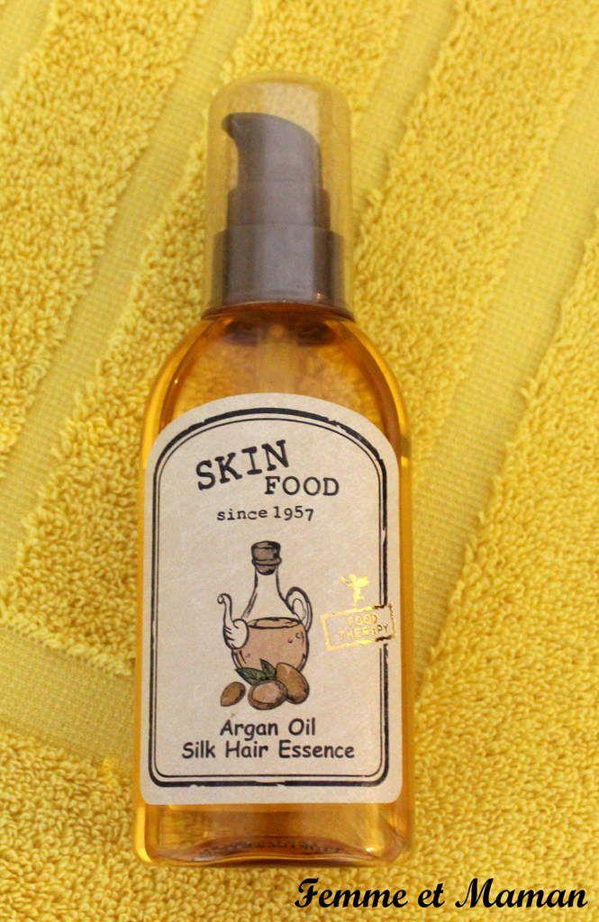 Des beaux cheveux de mère en fils grâce au sérum à l'huile d'argan SKINFOOD