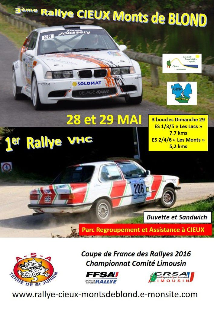 Rallye CIEUX Monts de BLOND