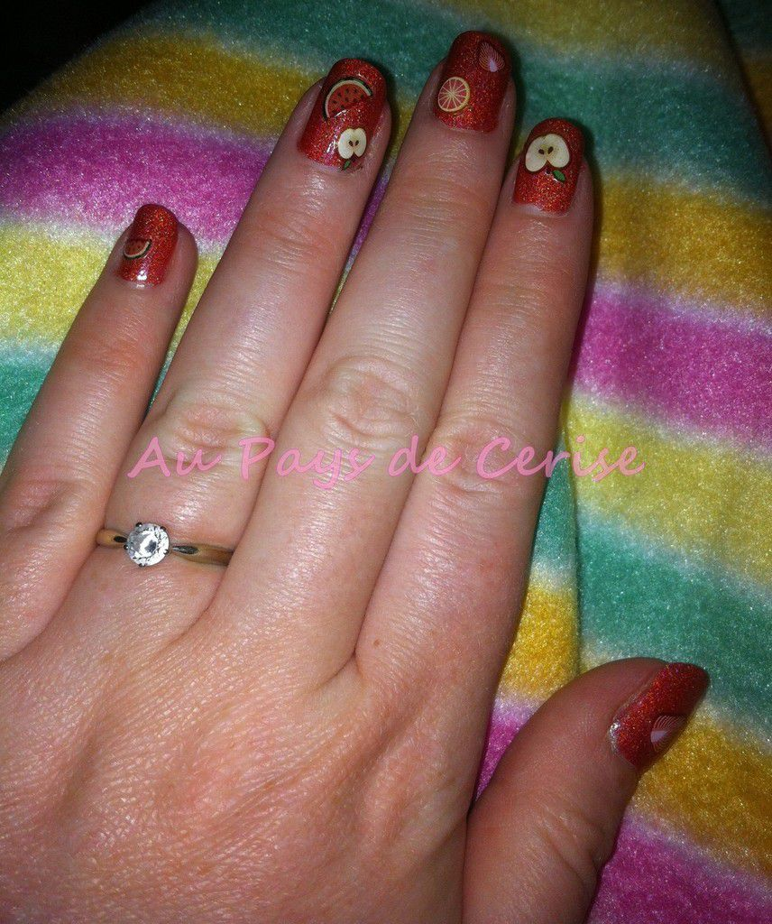 Nail art salade de fruits