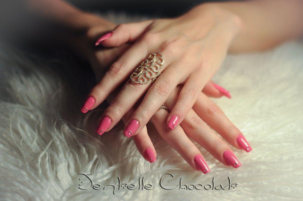 Nails,art.antibes. dentelle Chocolat