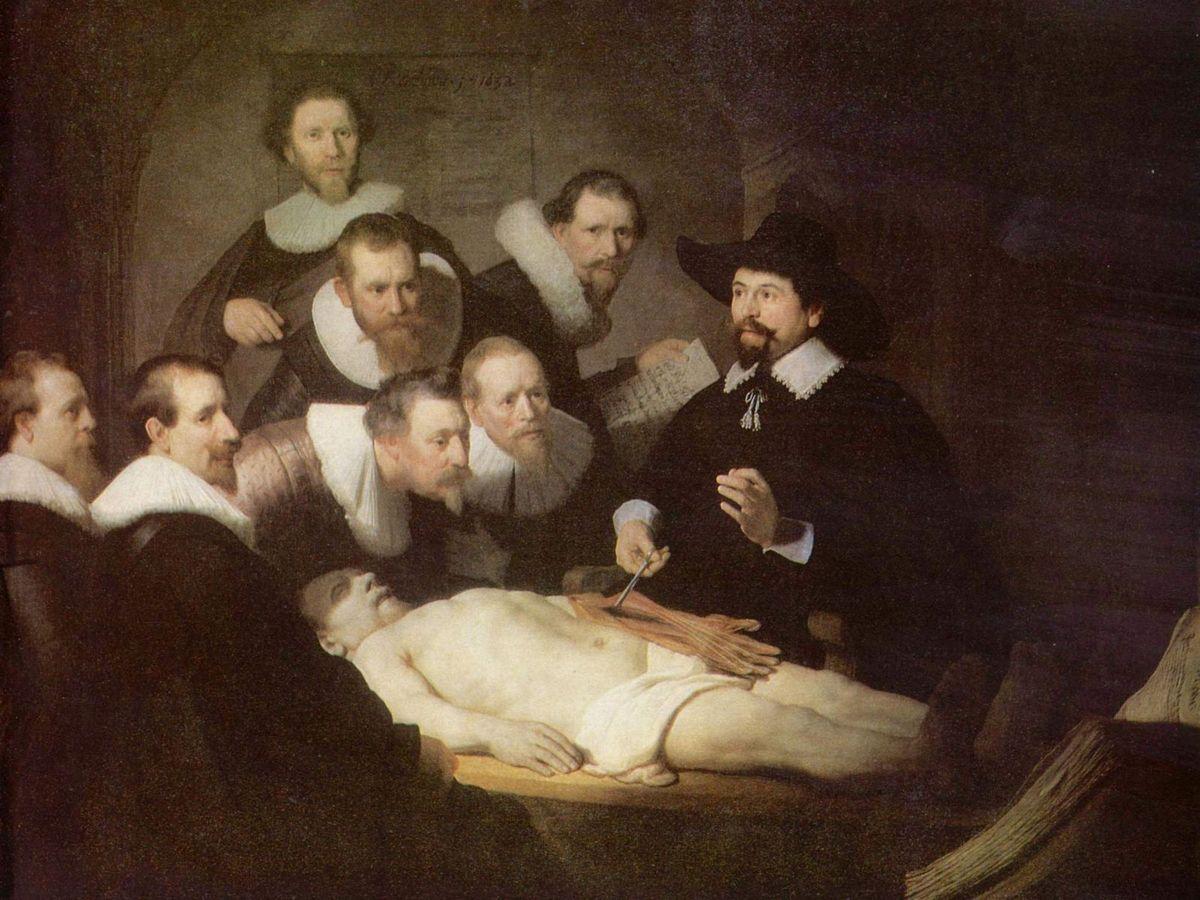 La leçon d'anatomie (Rembrandt), domaine public