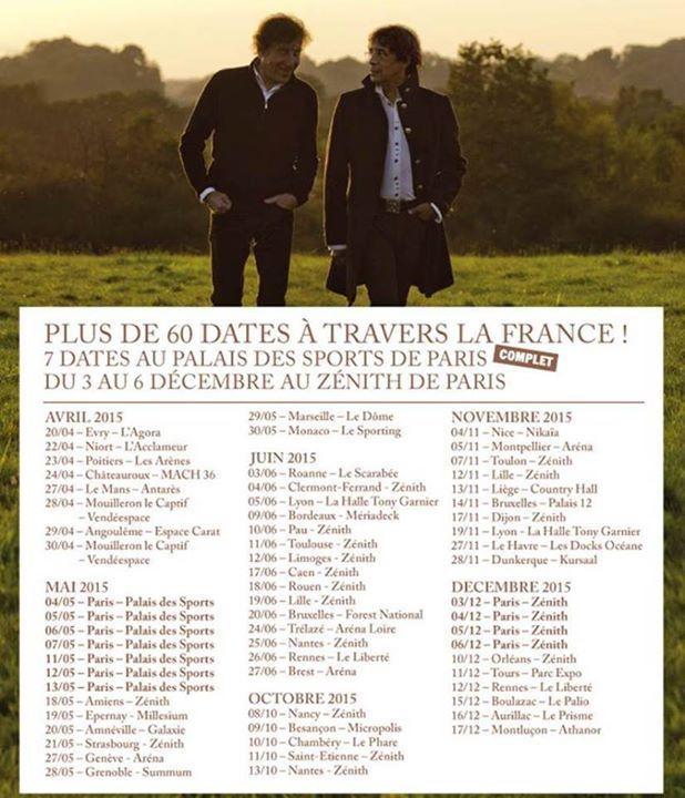 Souchon&amp&#x3B;Voulzy à La Halle Tony Garnier à Lyon ( Reste 2 places)