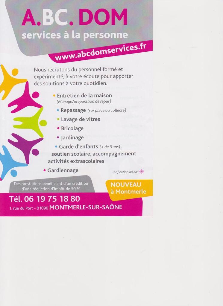 A.BC. DOM :Services à La Personne Ouvre Ses Portes