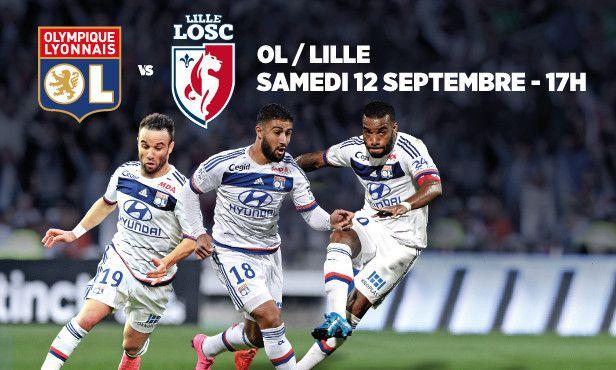 Olympique Lyonnais-Lille 12 septembre nos tarifs.