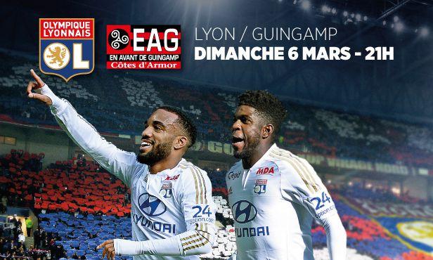 OL-Guingamp Dimanche 6 Mars à partir de 14 Euros