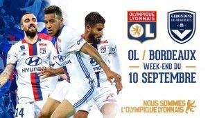 OL-Bordeaux:Samedi 10 septembre 17h00 Moins 40 %