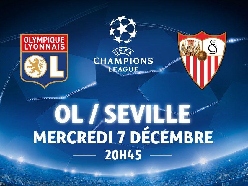 Dernière Minute:OL- Séville Mercredi 7 Décembre : 2 places à Gagner Avec Génération Montmerle