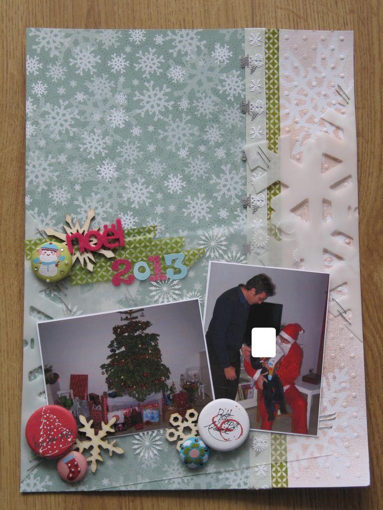 2 pages en scrap pour Noël 2013