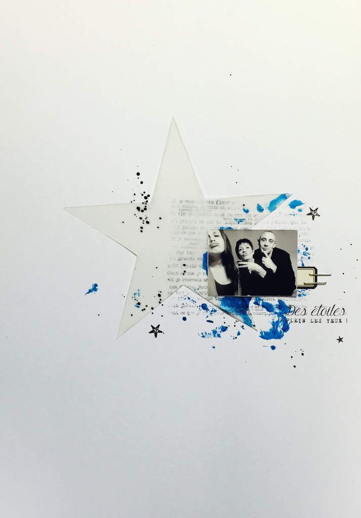 Page &quot&#x3B;Des étoiles plein les yeux&quot&#x3B; pour Lafabrikascrap