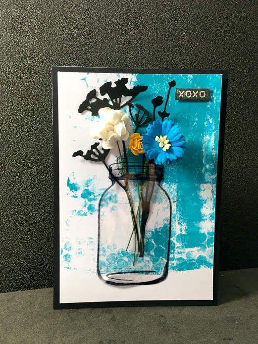 Carte &quot&#x3B;xoxo&quot&#x3B; pour la malle aux fleurs.