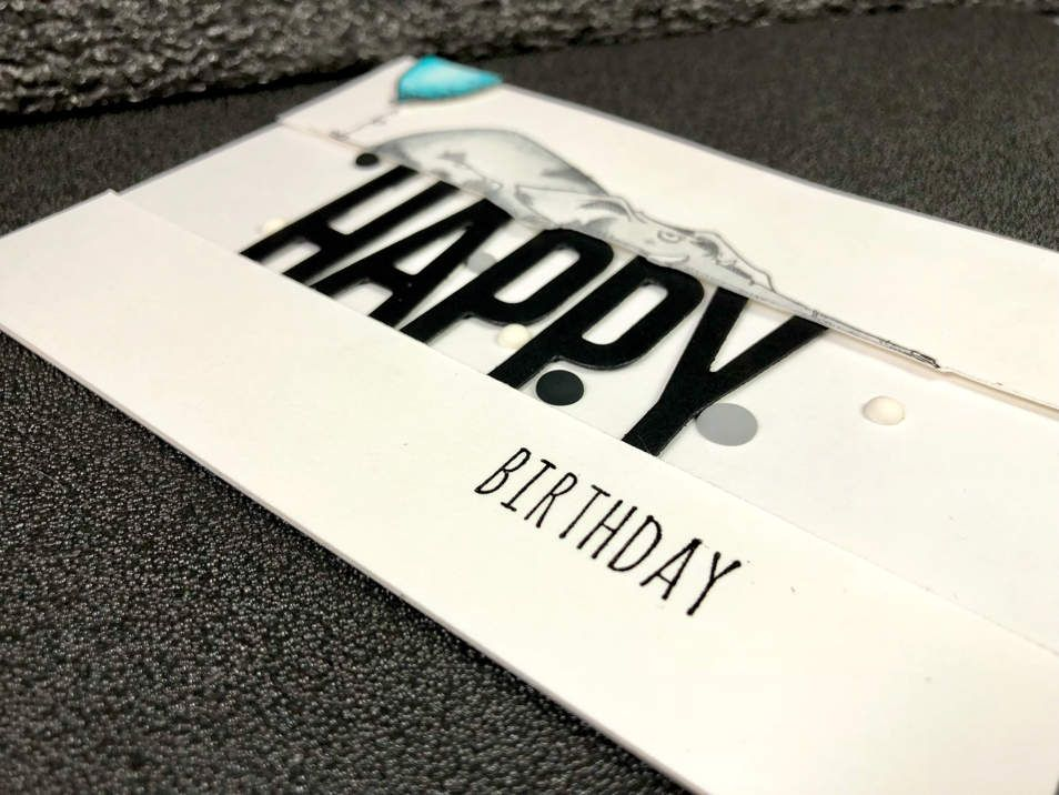Carte «Happy Birthday ». Katzelkraft