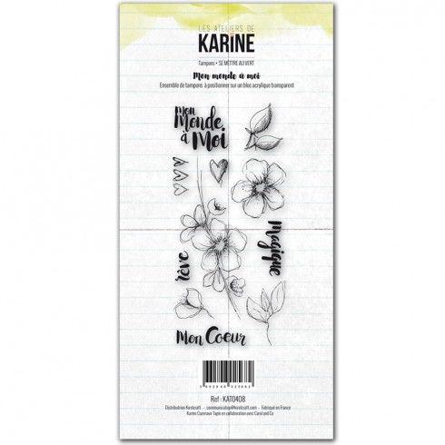 Carte &quot&#x3B;Rêve&quot&#x3B; avec les tampons de Karine.