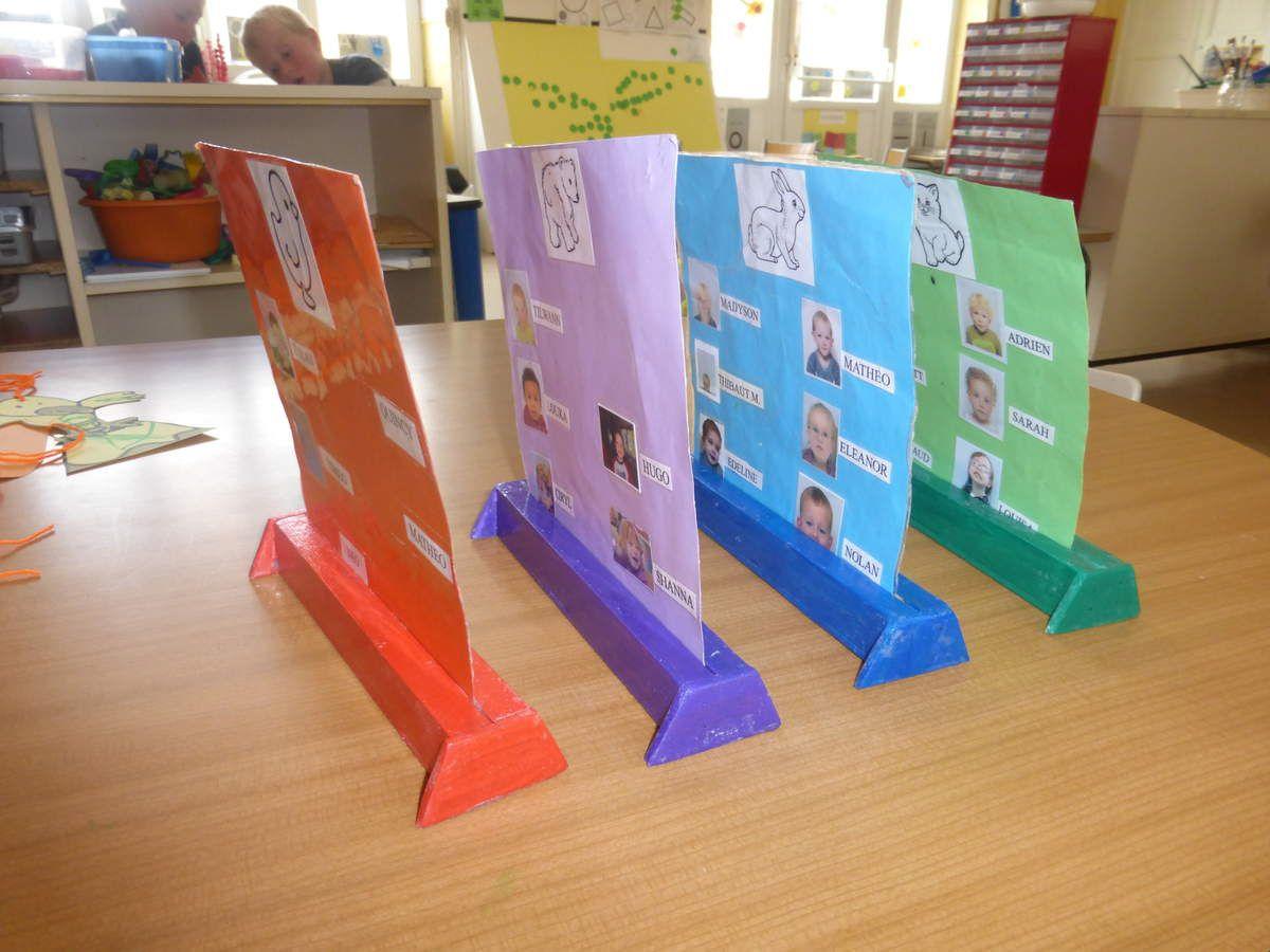 Mes groupes couleurs sur des supports !