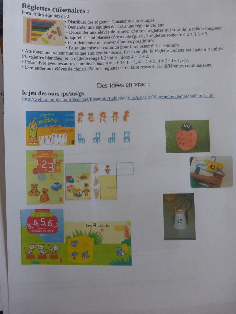 jeux favorisant la decomposition des nombres en maternelle LA CLASSE DE PEPE