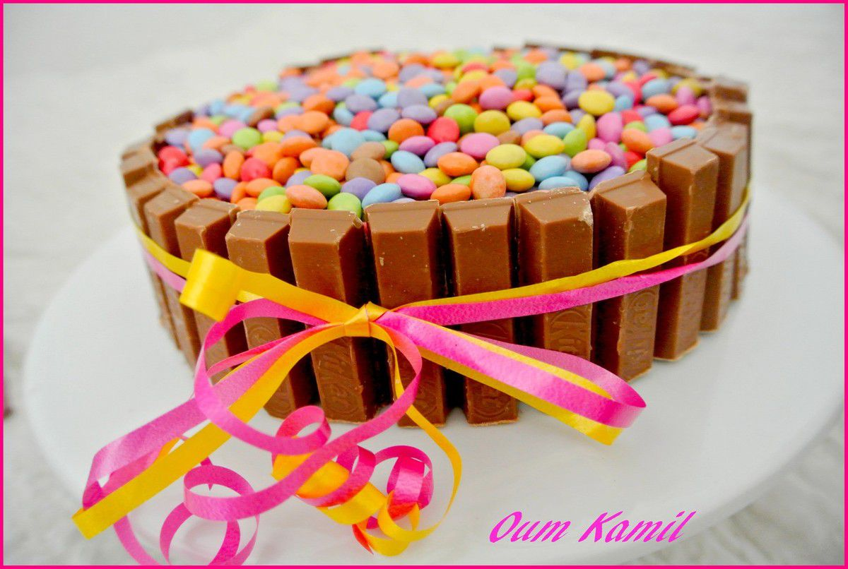 Gateau au kit kat facile