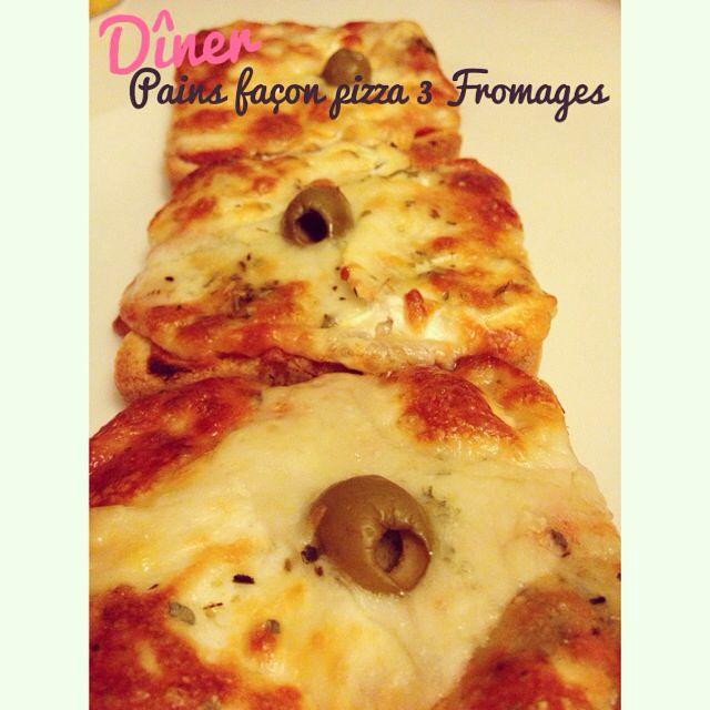 Pain De Mie Facon Pizza 3 Fromages Cuisine D Une Oummi Surbookee