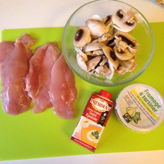 Escalope de poulet sauce Ail &amp&#x3B; fines herbes