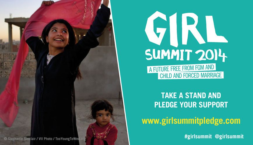 Girls summit 2014. Let girls be girls. A call to end #CEFM and #FGM.