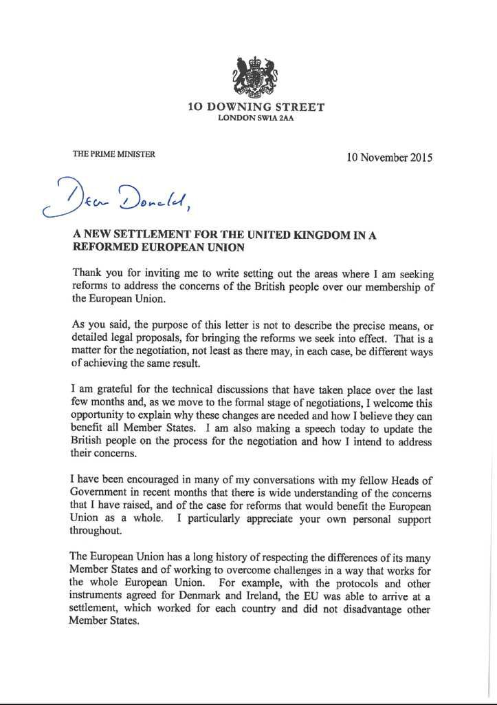 Letter by president donald tusk to the european council on the uk prime minister letter to the ccuart Gallery