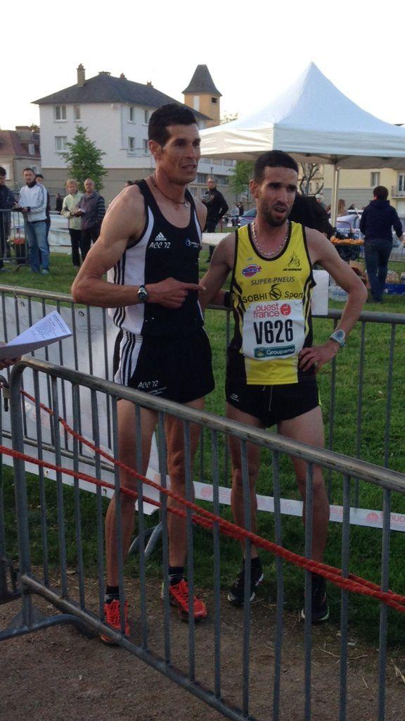 Said Lazaar et Mohamed, peu habitué aux 10kms