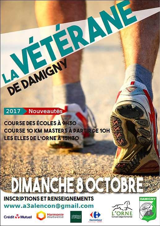 La 4e édition de  la Vétérane de Damigny 8 octobre 2017