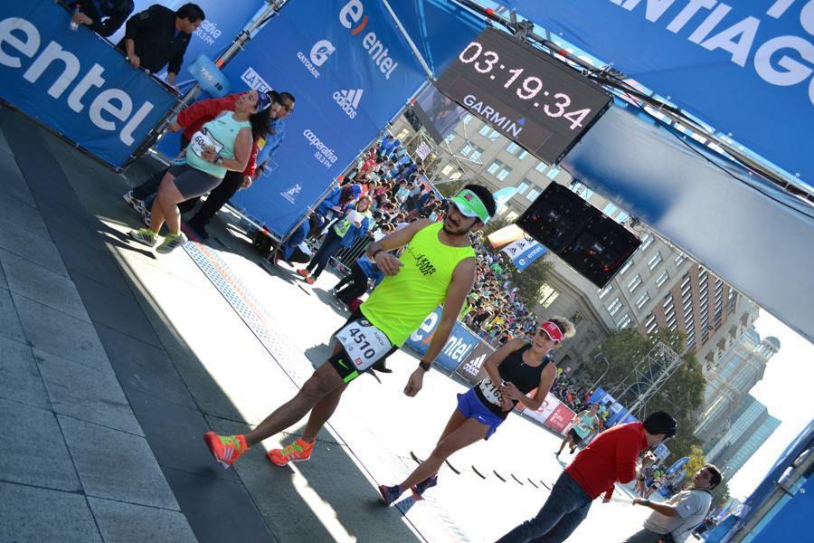 Photos du  marathon de Santiago du Chili