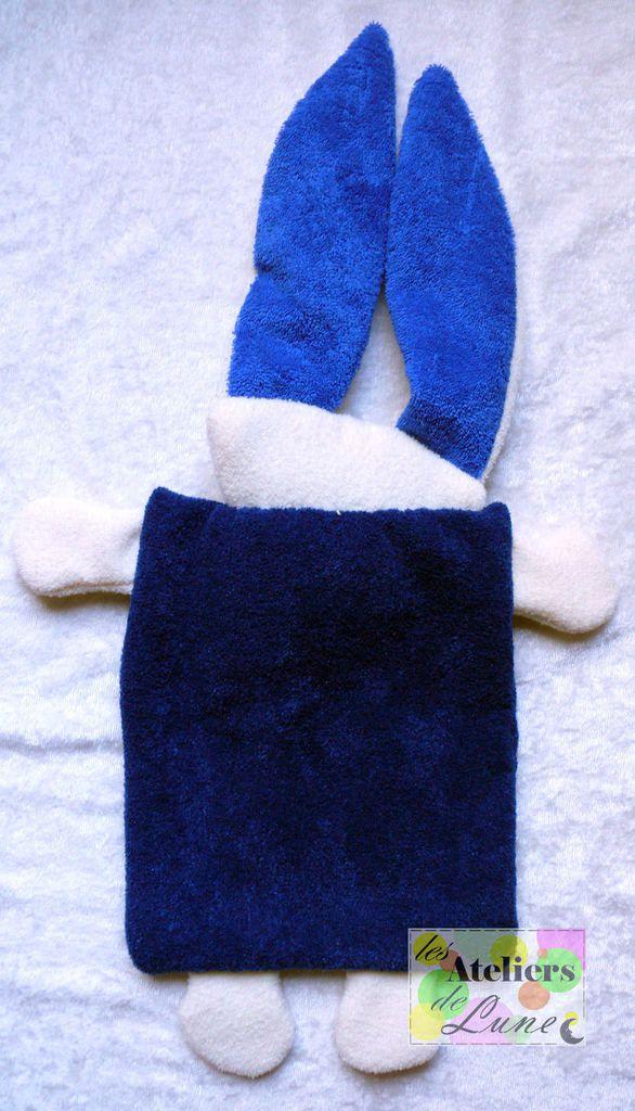 Doudou Lapin Bleu en tissu