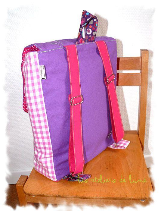 sac à dos pour la maternelle, la crèche : Les Ptits Zozios**