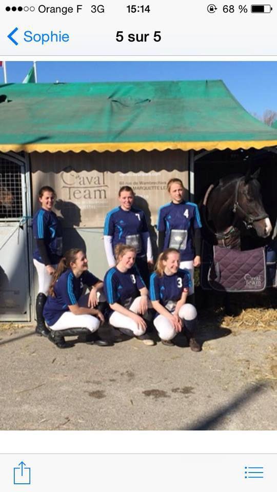 Horse ball : Julie Cottenye  joue en AEF à Hem