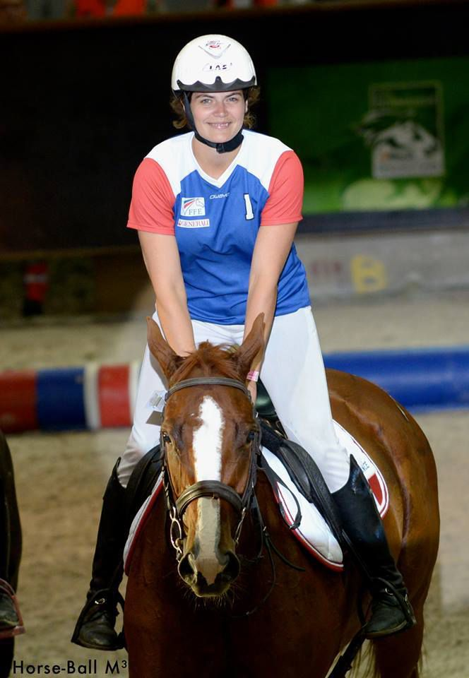 Horse ball : Mathilde Duboscq en Equipe de France Ladies