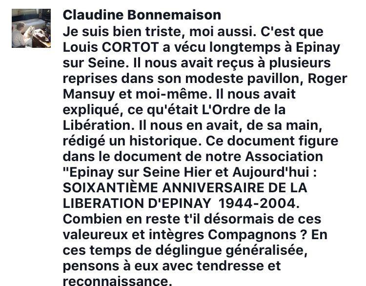 Louis CORTOT nous a Quitté ...��