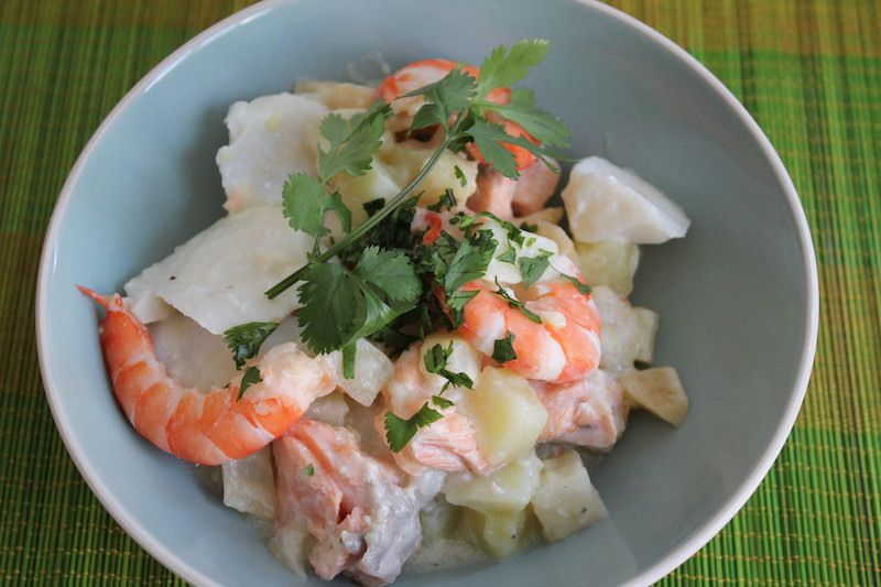 Blanquette de la mer aux pommes de terre, céleri-rave et gingembre (sans gluten)