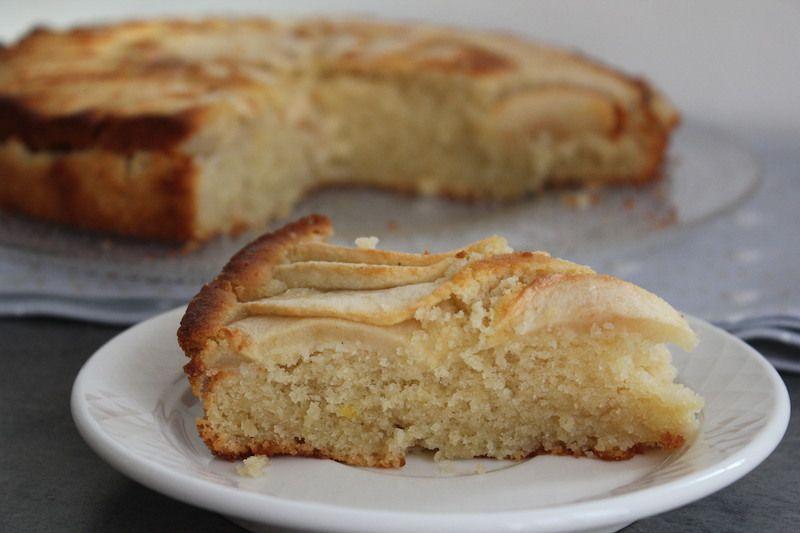 Gâteau citronné  aux pommes sans gluten