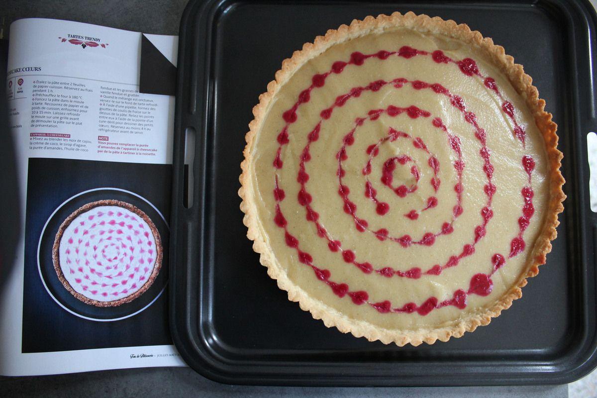 Tarte &quot&#x3B;cheesecake coeurs&quot&#x3B; sans gluten et sans lactose