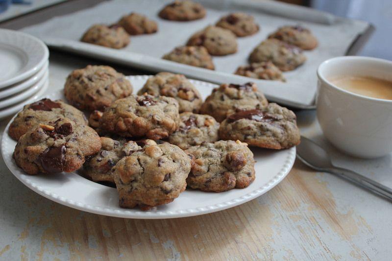 Les &quot&#x3B; cookies noisettes- chocolat  pour Chiara&quot&#x3B; sans gluten
