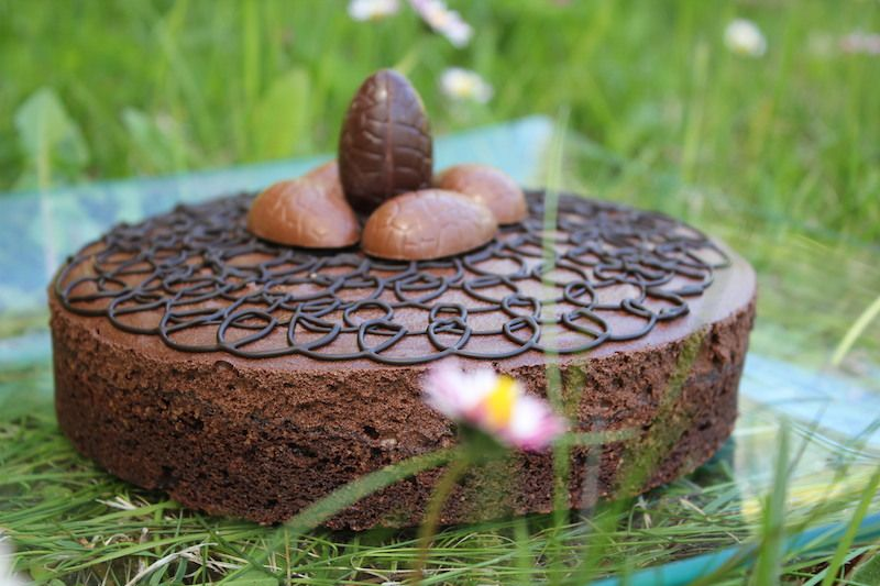 Gâteau ultra chocolaté pour une belle occasion - bien sûr sans gluten