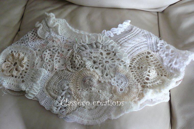 cache épaules en freeform crochet