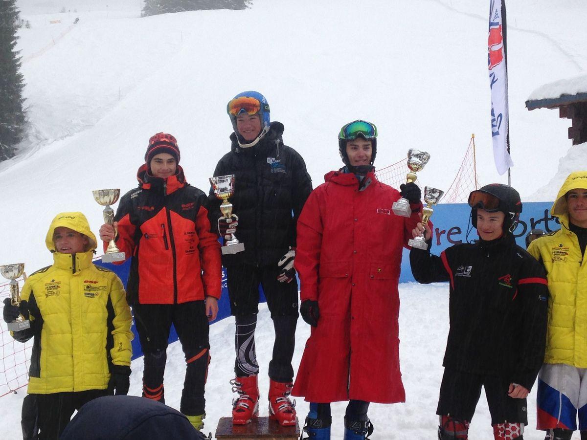 Clément vainqueur en slalom U16 samedi