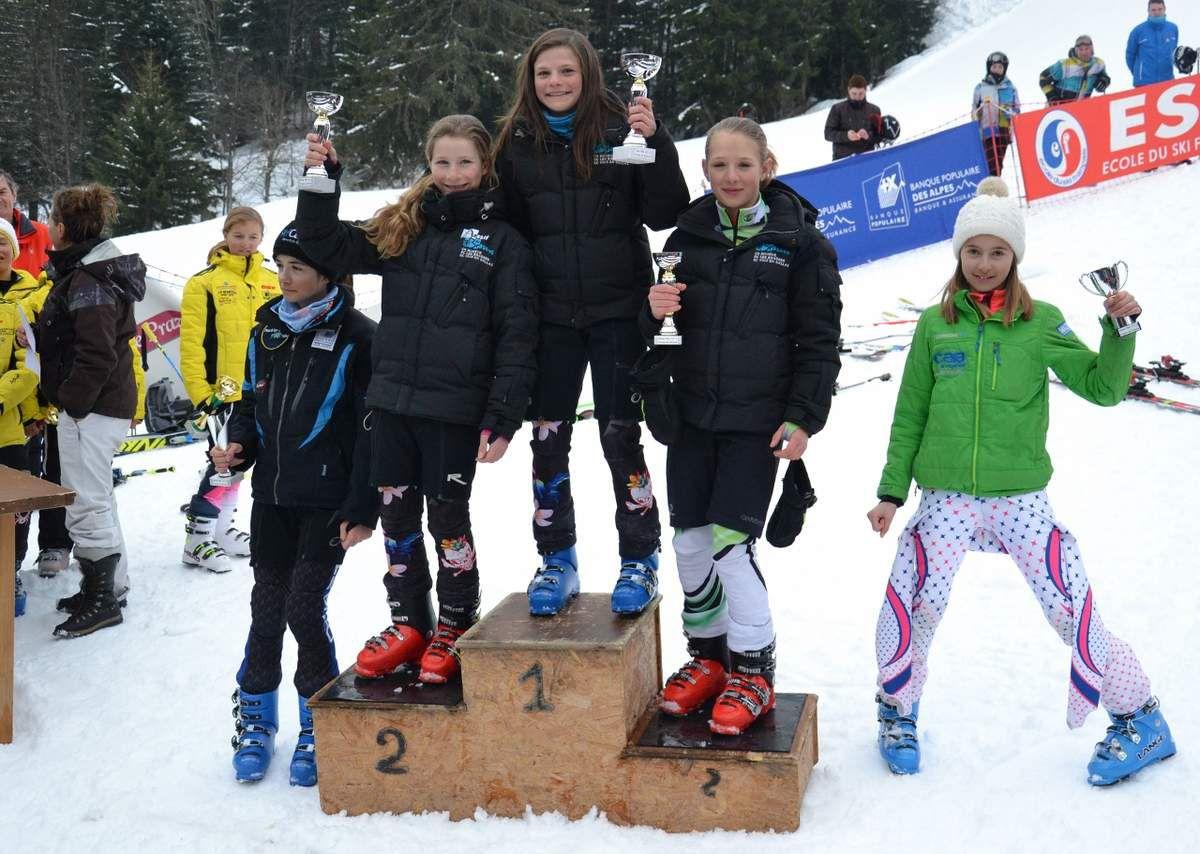 Le podium 2004 filles du 28 février