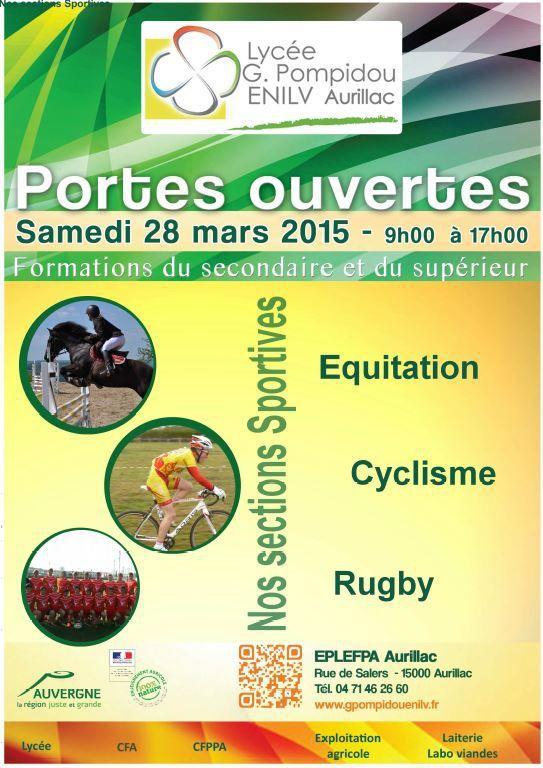 section sportive CYCLISME aux portes ouvertes du Lycée G.Pompidou