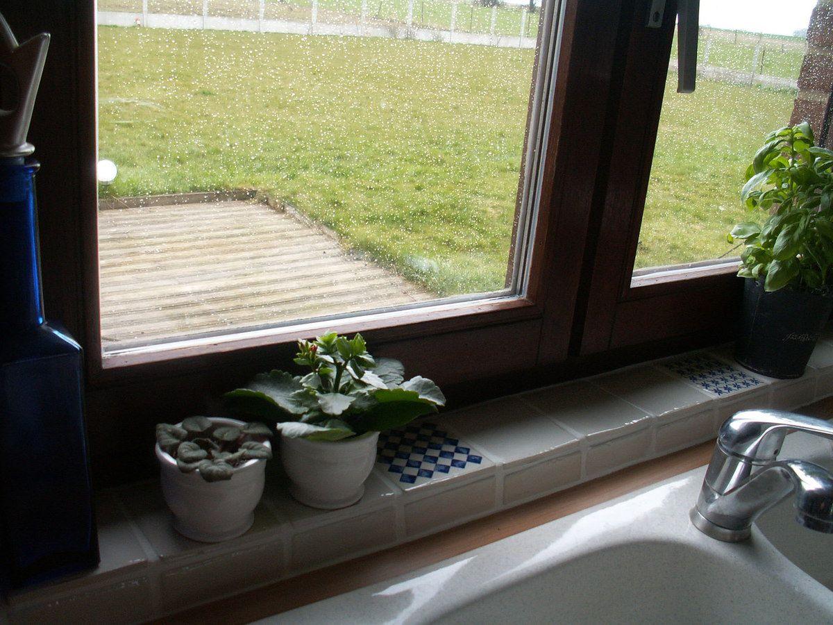 Carrelage et fenêtre