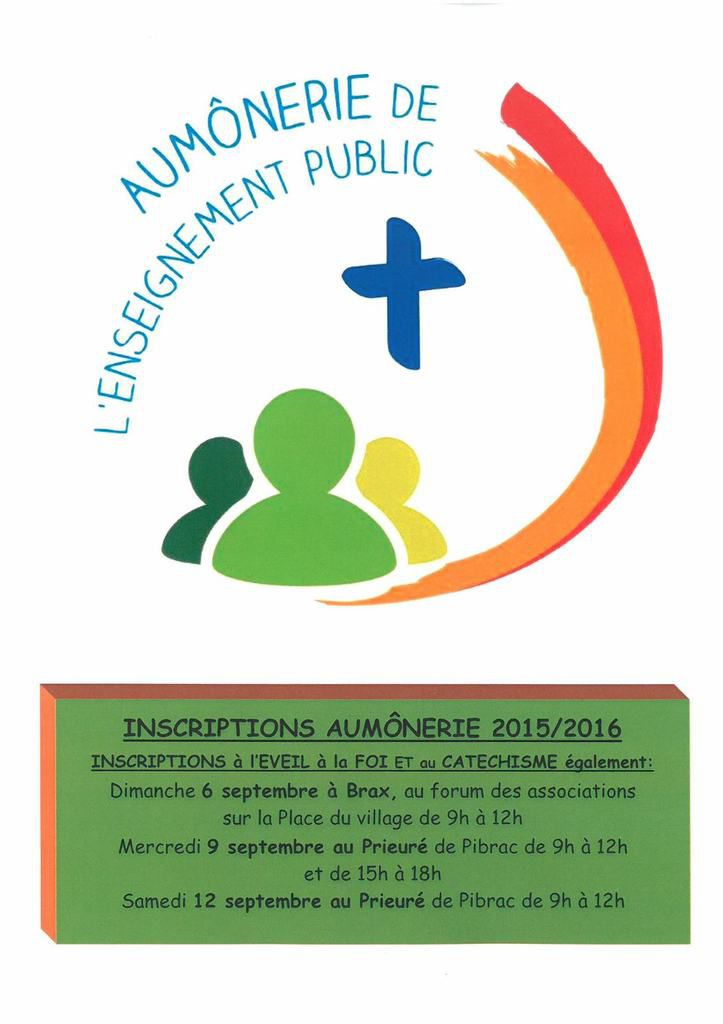 Inscriptions Aumônerie 2015-2016