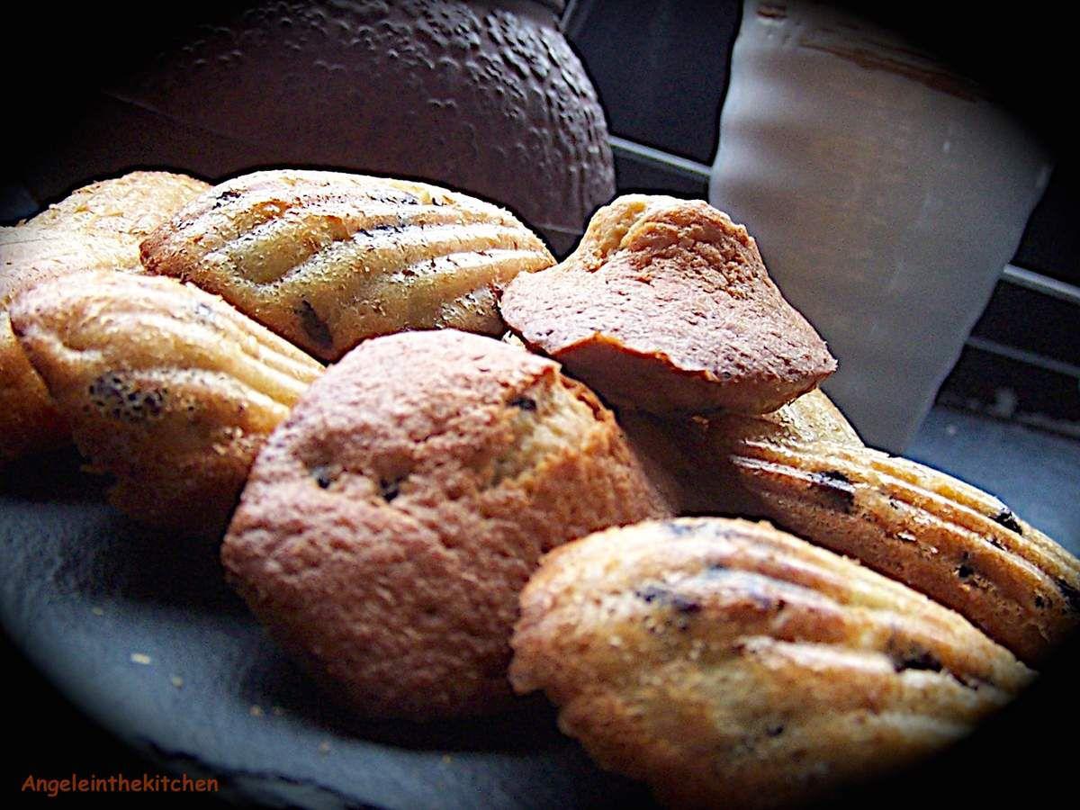 Madeleines Poire et chocolat