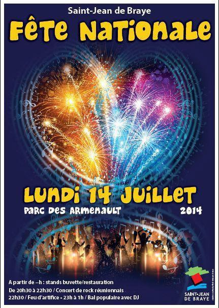 - Programme de la Fête nationale du 14 JUILLET à St JEAN DE BRAYE (Loiret)