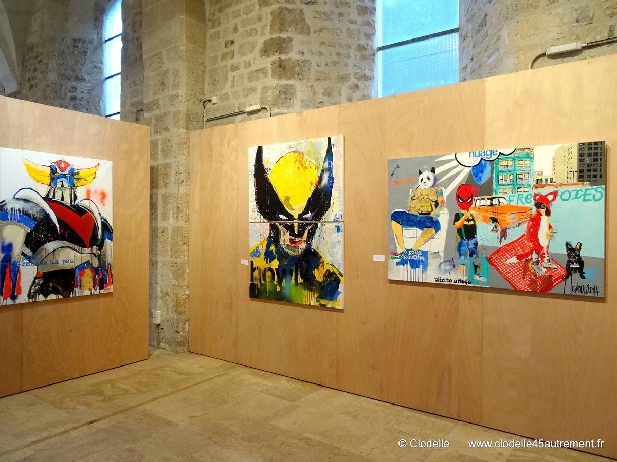 - IMAGES DE L'EXPOSITION CIEU à la Collégiale St-Pierre-le-Puellier d'ORLEANS