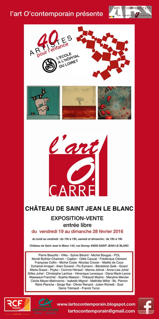 L 39 art 0 39 carre exposition au profit de l cole l h pital for Garage ad st jean le blanc